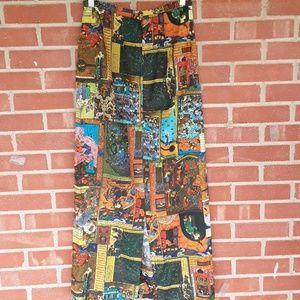 Vintage Skirts - ❤2 for $20 Vintage medieval printed skirt small